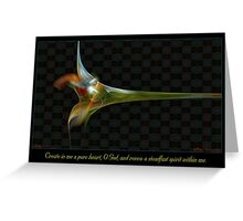 Pure Heart Greeting Card