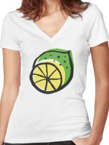 Summer energy Women's Fitted V-Neck T-Shirt