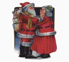 Vintage Mr and Mrs Claus Kids Tee