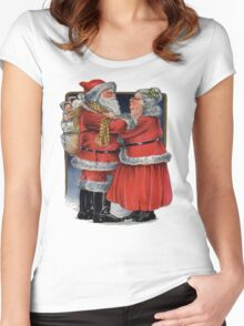 Vintage Mr and Mrs Claus Women's Fitted Scoop T-Shirt