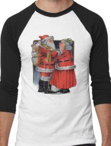 Vintage Mr and Mrs Claus Men's Baseball ¾ T-Shirt