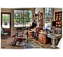 Barber Shop Panoramic HDR Poster