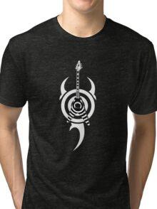 zakk wylde's gibson flying v bullseye tribal Tri-blend T-Shirt