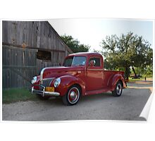 My Red Pickup Truck Poster
