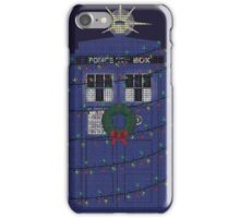 Police Box Christmas Knit iPhone Case/Skin
