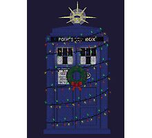 Police Box Christmas Knit Photographic Print