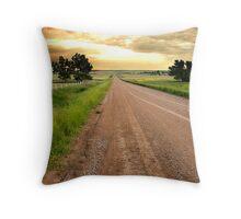 Saskatchewan Byway Throw Pillow