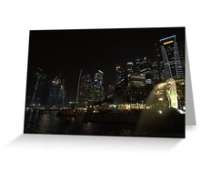 Singapore City Skyline Greeting Card