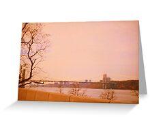 Hudson River. New York Greeting Card