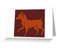 Red Miniature Pinscher Greeting Card