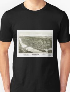 Panoramic Maps Tionesta Forest County Pa 1896 Unisex T-Shirt