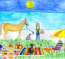 friends and pets day at the beach by Hbeth
