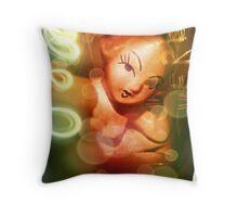 Pinup action Throw Pillow