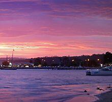 Batemans Bay night panorama by Roger Neal