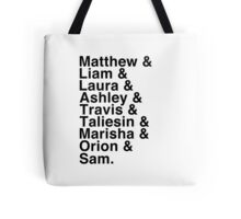 The Cast of Critical Role - Helvetica List Tote Bag