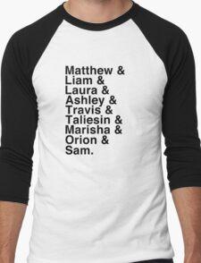 The Cast of Critical Role - Helvetica List Men's Baseball ¾ T-Shirt