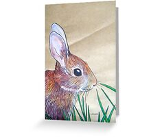 Little Brown Bunny Greeting Card