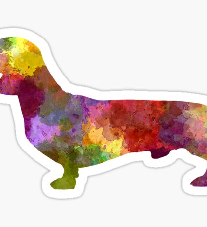 Dachshund in watercolor Sticker