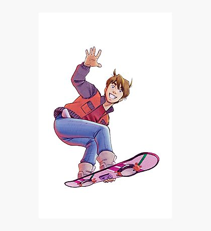 Mcfly on Hoverboard Photographic Print
