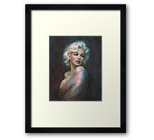 Marilyn WW blue dark Framed Print