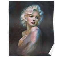 Marilyn WW blue dark Poster