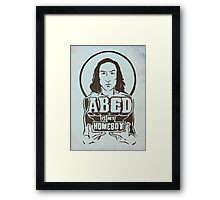 Abed Is My Homeboy Framed Print