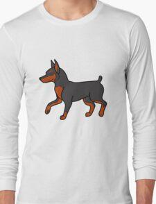 Black Miniature Pinscher Long Sleeve T-Shirt