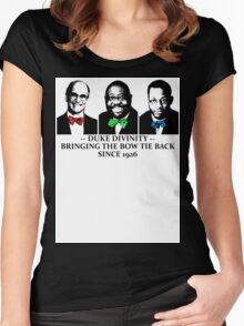 Div Bow Tie Brigade Women's Fitted Scoop T-Shirt
