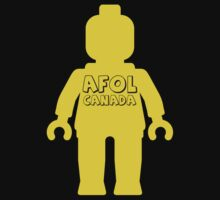 Minifig with AFOL Canada Slogan by Customize My Minifig by ChilleeW