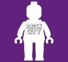 Minifig with Brick City Slogan by Customize My Minifig by ChilleeW