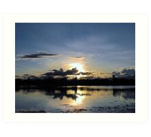 Glorious western Queensland sunset Art Print