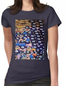 Protection From The Evil Eye - Boncuk Amulet Womens Fitted T-Shirt