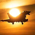 Typhoon Sunset Landing by Mark Kerton