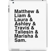 The Cast of Critical Role (Variant 2) - Helvetica List iPad Case/Skin