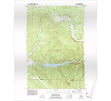 USGS Topo Map Washington State WA Vail 244424 1990 24000 Poster