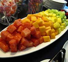 Melons and Pineapple chunks by MarianBendeth