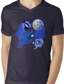 Three Luna Moon Mens V-Neck T-Shirt