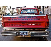 BIG RED TRUCK Photographic Print