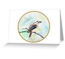 Kookaburra, Birds of Hepburn, 2011 Greeting Card