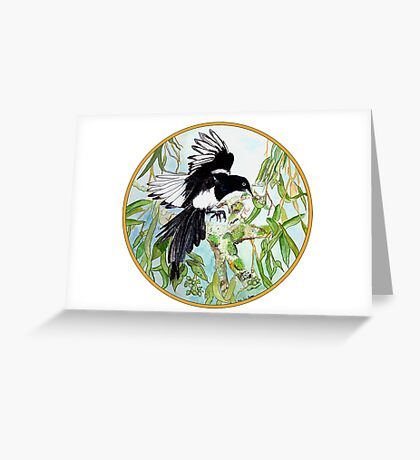 Magpie, Birds of Hepburn, 2011 Greeting Card