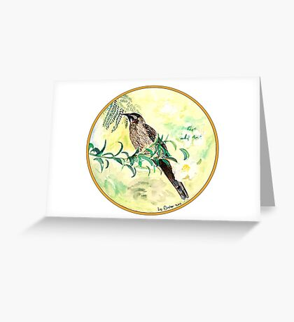 Yellow Wattlebird, Birds of Hepburn, 2011 Greeting Card