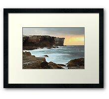 Edge of a continent Framed Print