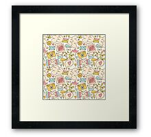Let's talk about happy! Framed Print