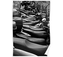 Mopeds in Milan Poster