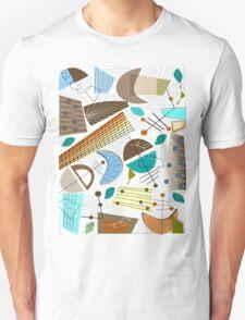 Mid-Century Modern Abstract Earth Tones T-Shirt