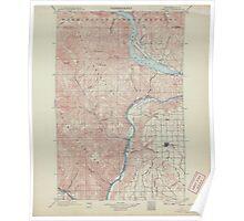 USGS Topo Map Washington State WA Chelan 240439 1901 125000 Poster