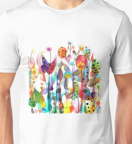 Summer Garden Flowers Unisex T-Shirt