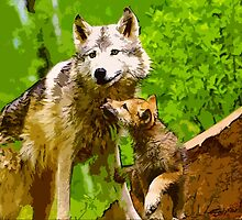 Wild nature - wolves by Wiedzminka