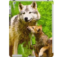Wild nature - wolves iPad Case/Skin