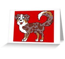 Red Merle Australian Shepherd Greeting Card